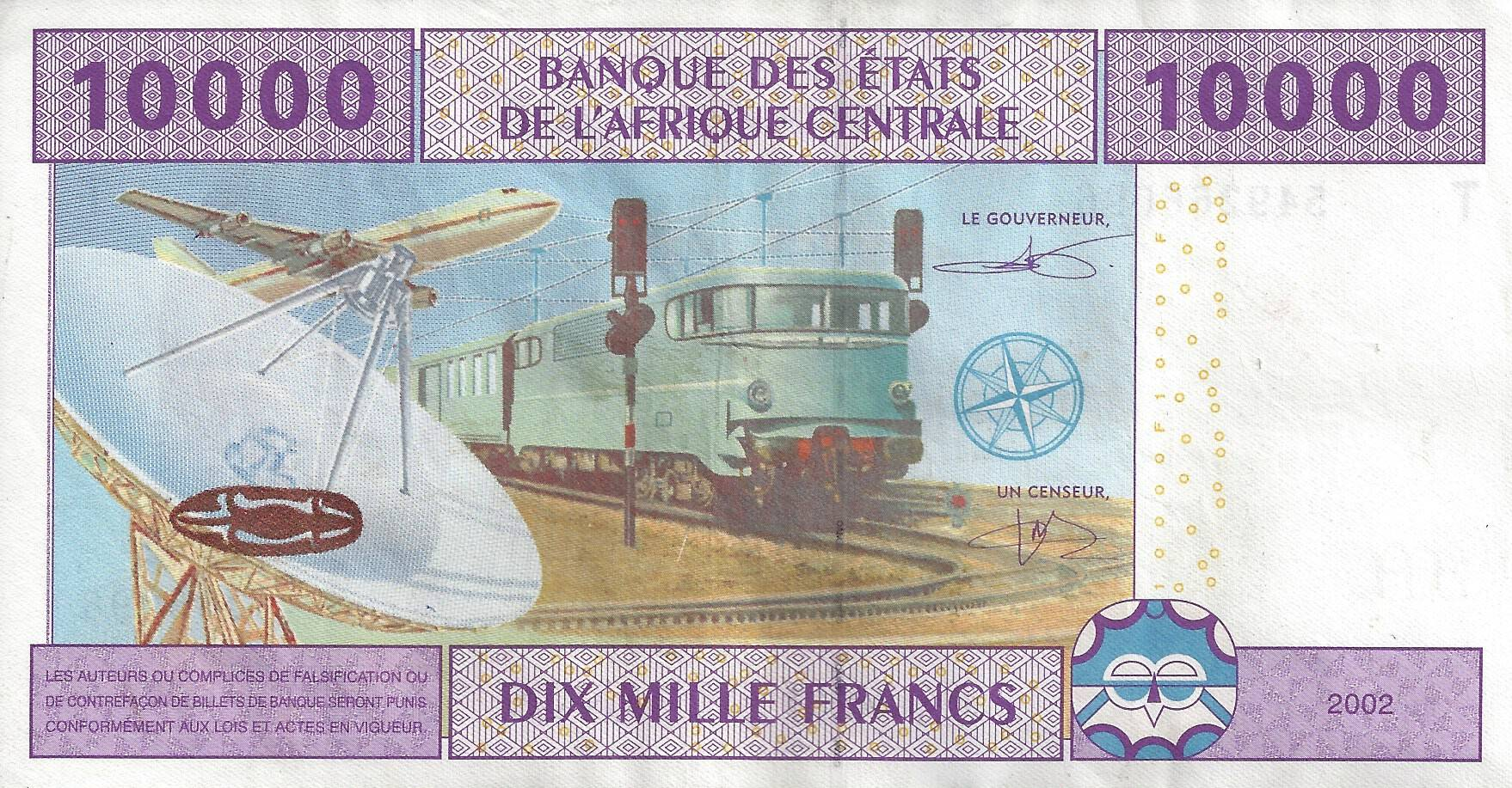billet de 10 000 francs cfa